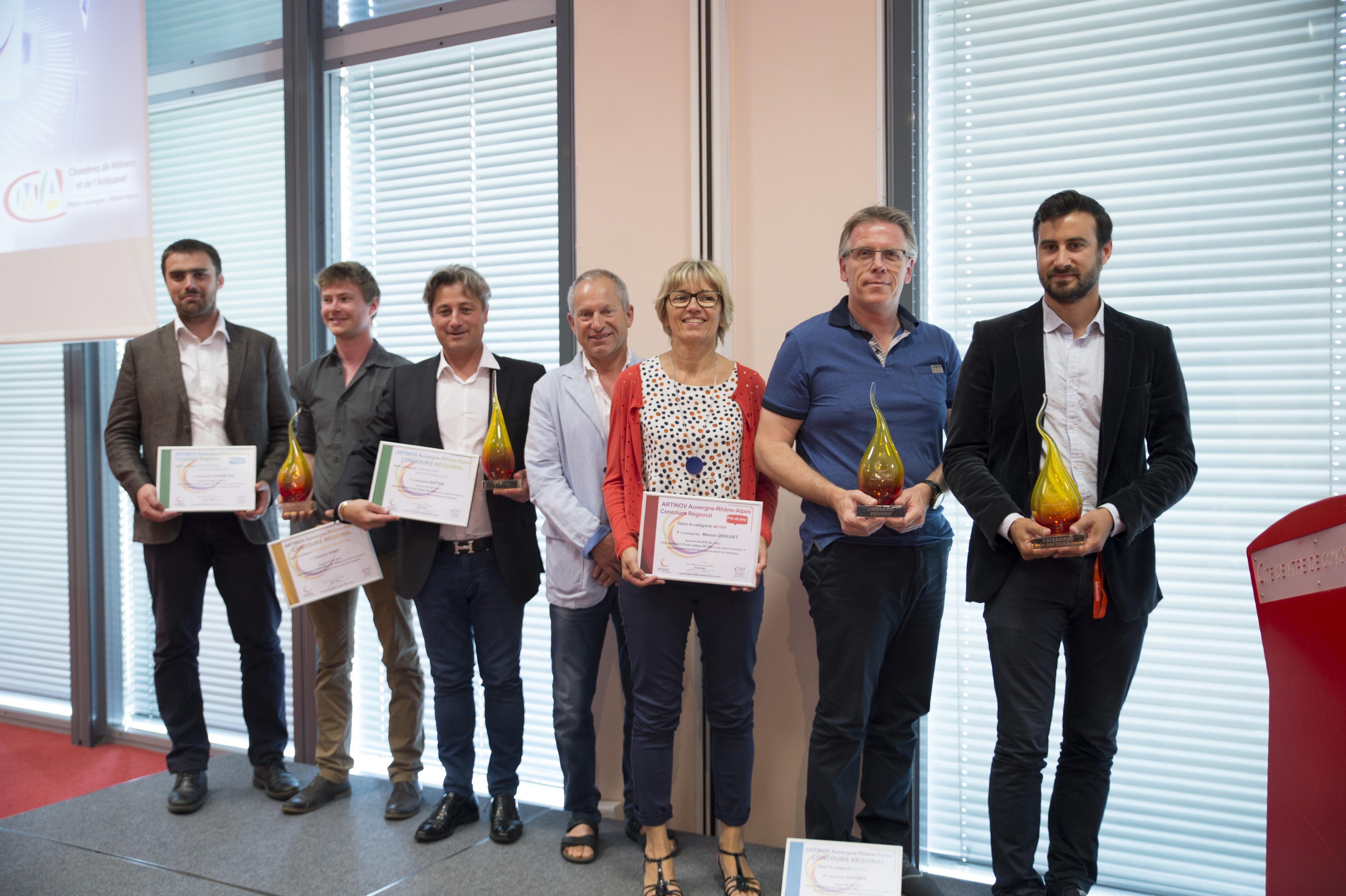 Deux lauréats ARTINOV Savoie 2016 sur le podium ARTINOV Régional