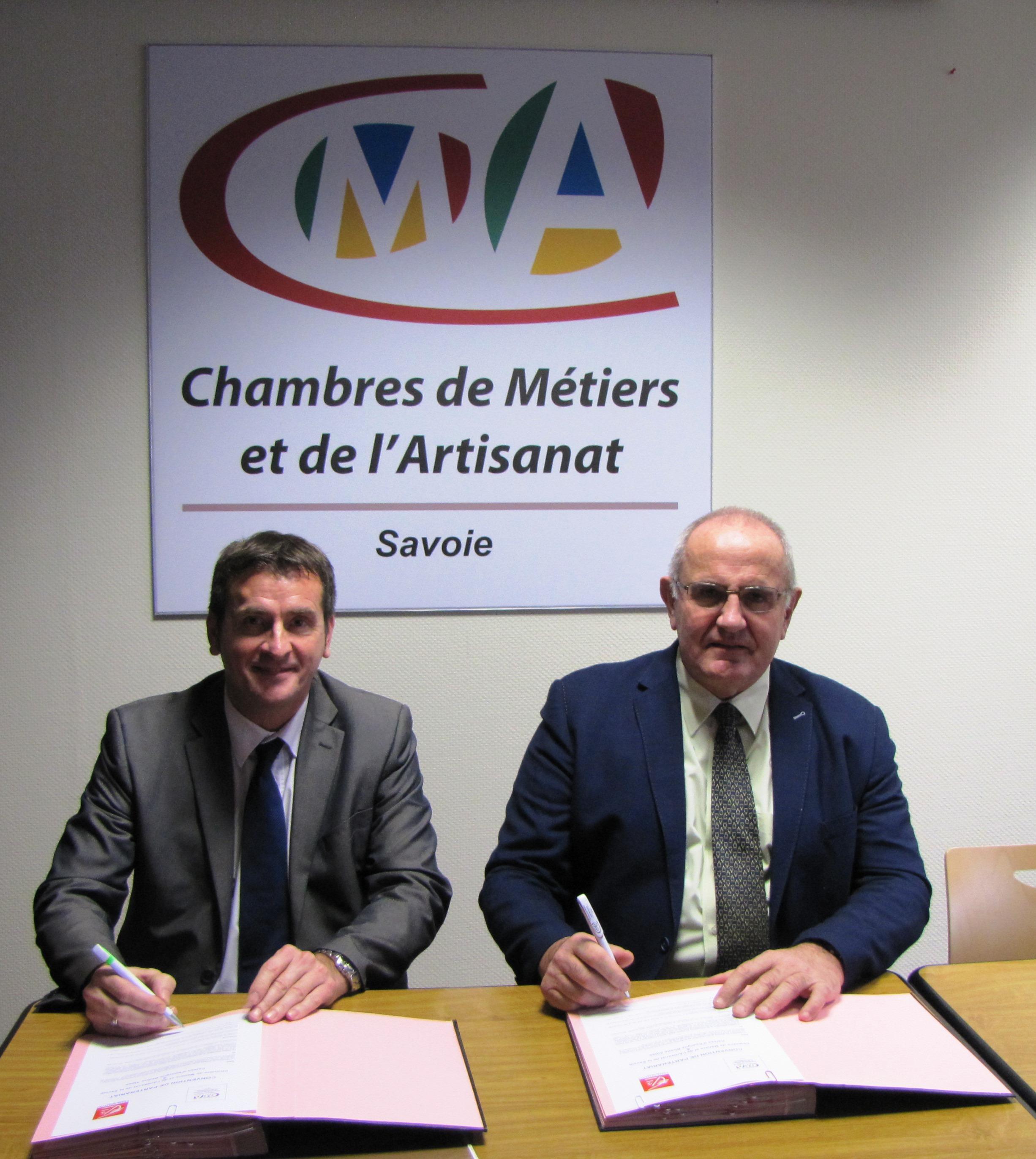 Convention de partenariat chambre de m tiers et de l - Chambre des metiers savoie ...