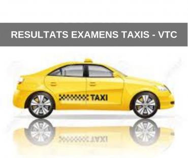 Résultats examen Taxis VTC